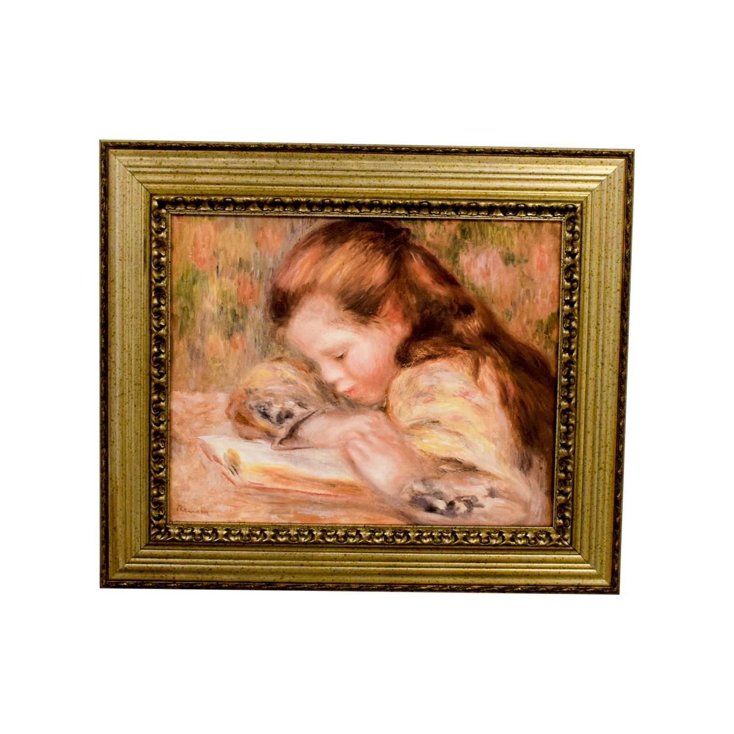 Pierre Auguste Renoir Young Girl Reading Print Wall Art