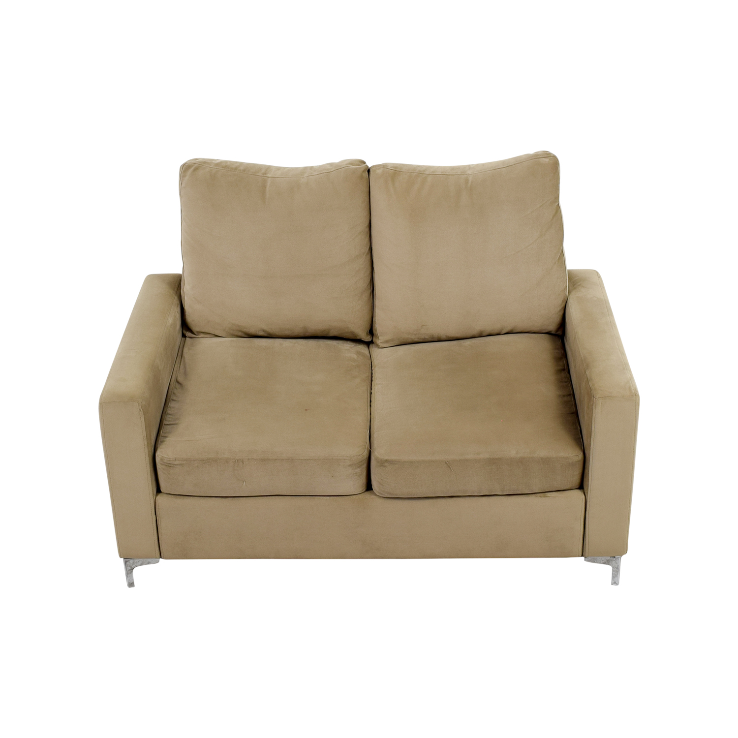 Cream Microfiber Loveseat nj