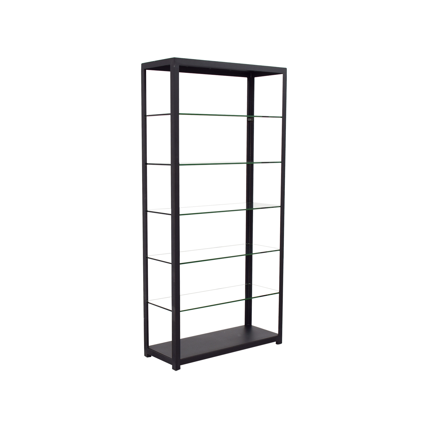 Room & Board Glass and Brass Book Shelf / Bookcases & Shelving