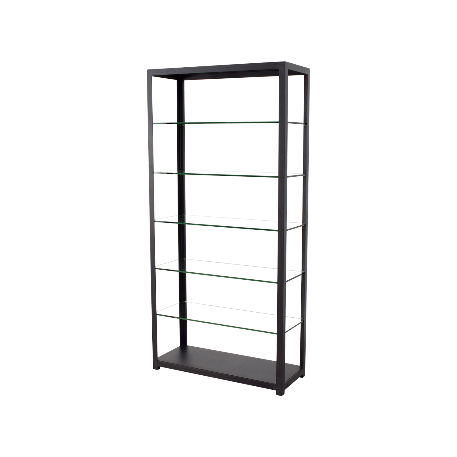 buy Room & Board Glass and Brass Book Shelf Room & Board Bookcases & Shelving
