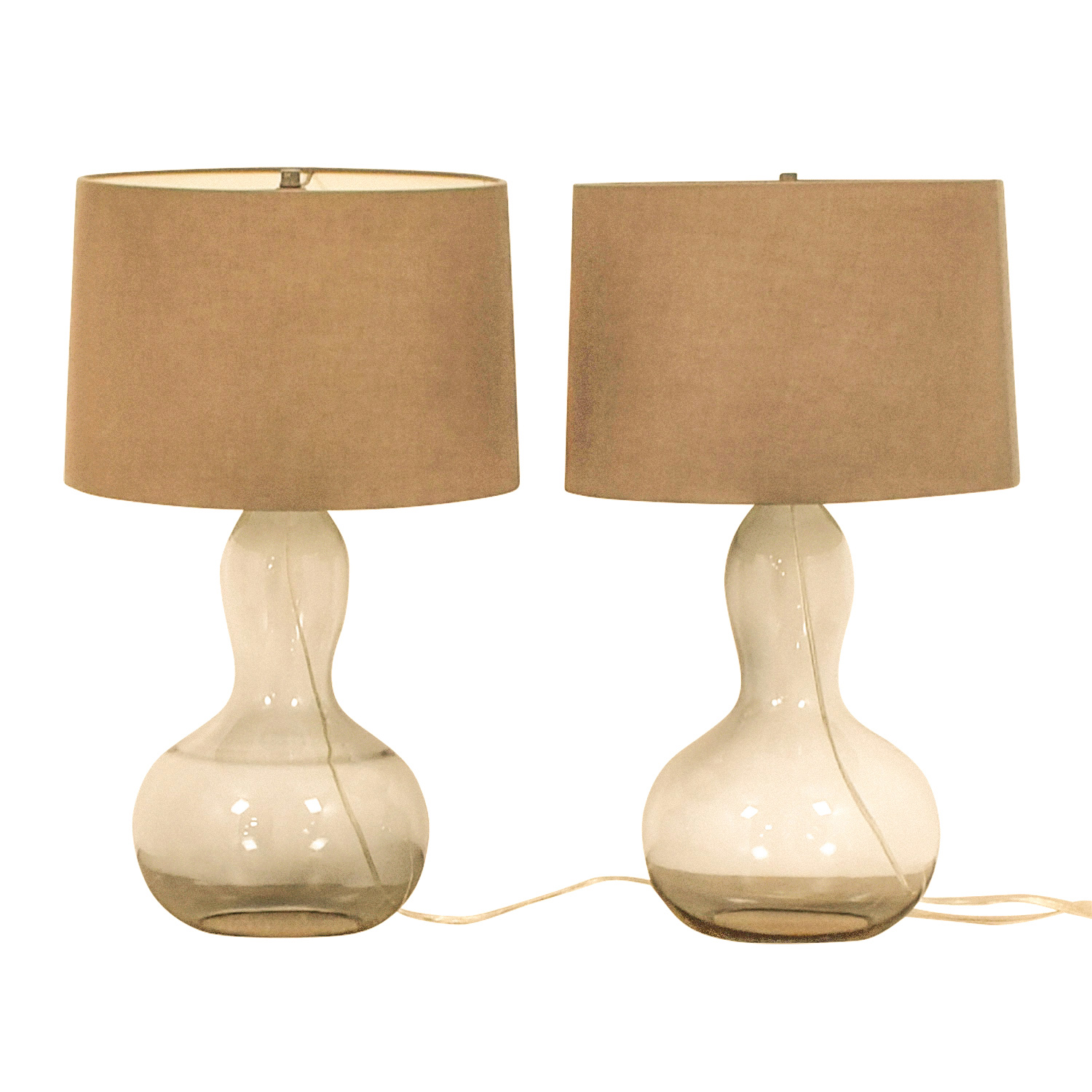 West Elm West Elm Gourd Glass Lamps discount