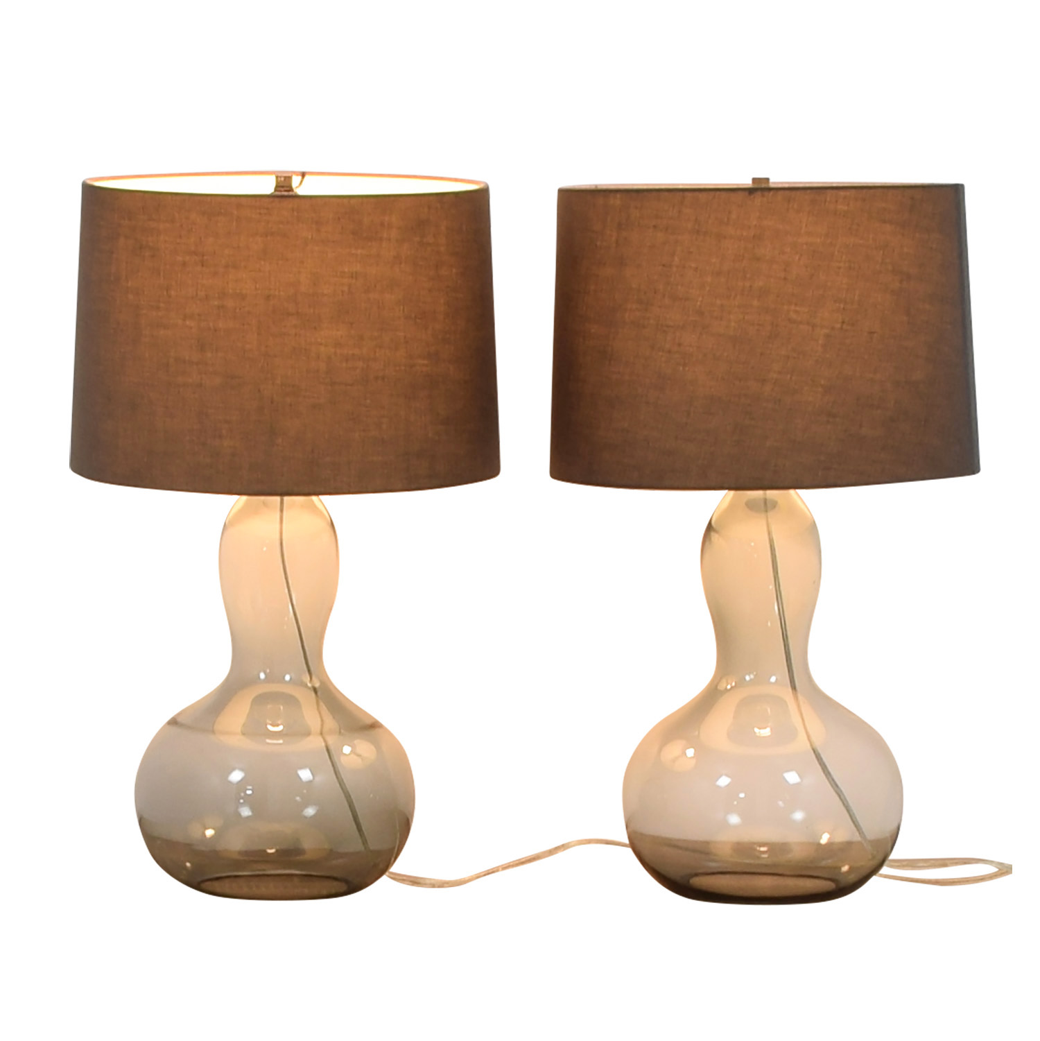 West Elm West Elm Gourd Glass Lamps