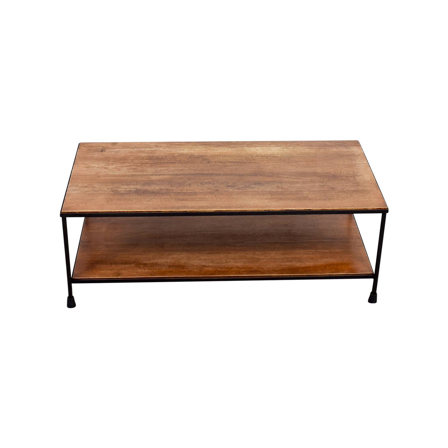 OFF Pottery Barn Pottery Barn Wood And Metal Coffee Table Tables - Pottery barn small coffee table
