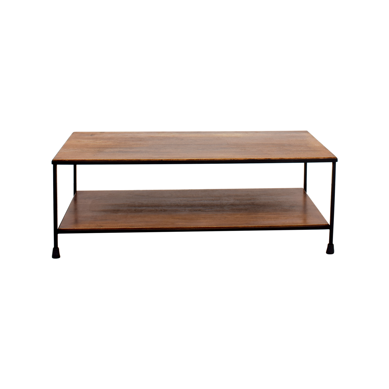 52% OFF Pottery Barn Pottery Barn Wood and Metal Coffee Table