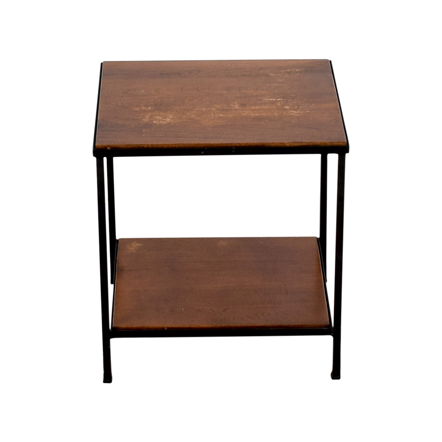 61% OFF Pottery Barn Pottery Barn Wood and Metal Side Table Tables