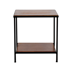 Pottery Barn Pottery Barn Wood and Metal Side Table