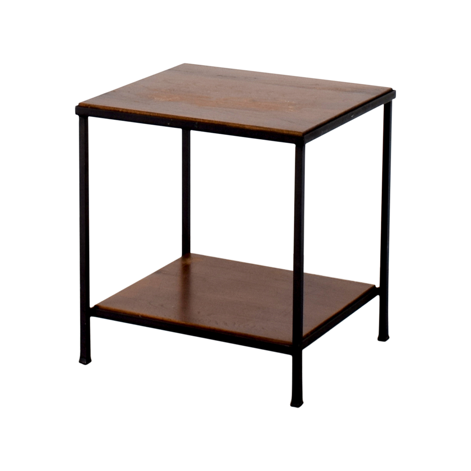 Pottery Barn Wood Table: Pottery Barn Pottery Barn Wood And Metal Side