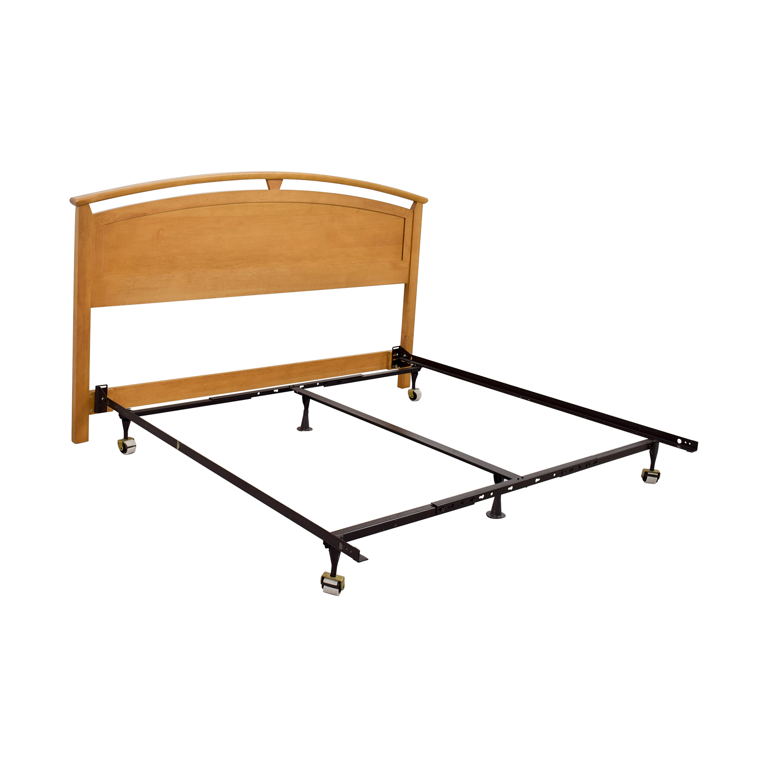 Ethan Allen Ethan Allen King Maple Headboard with Metal Frame second hand