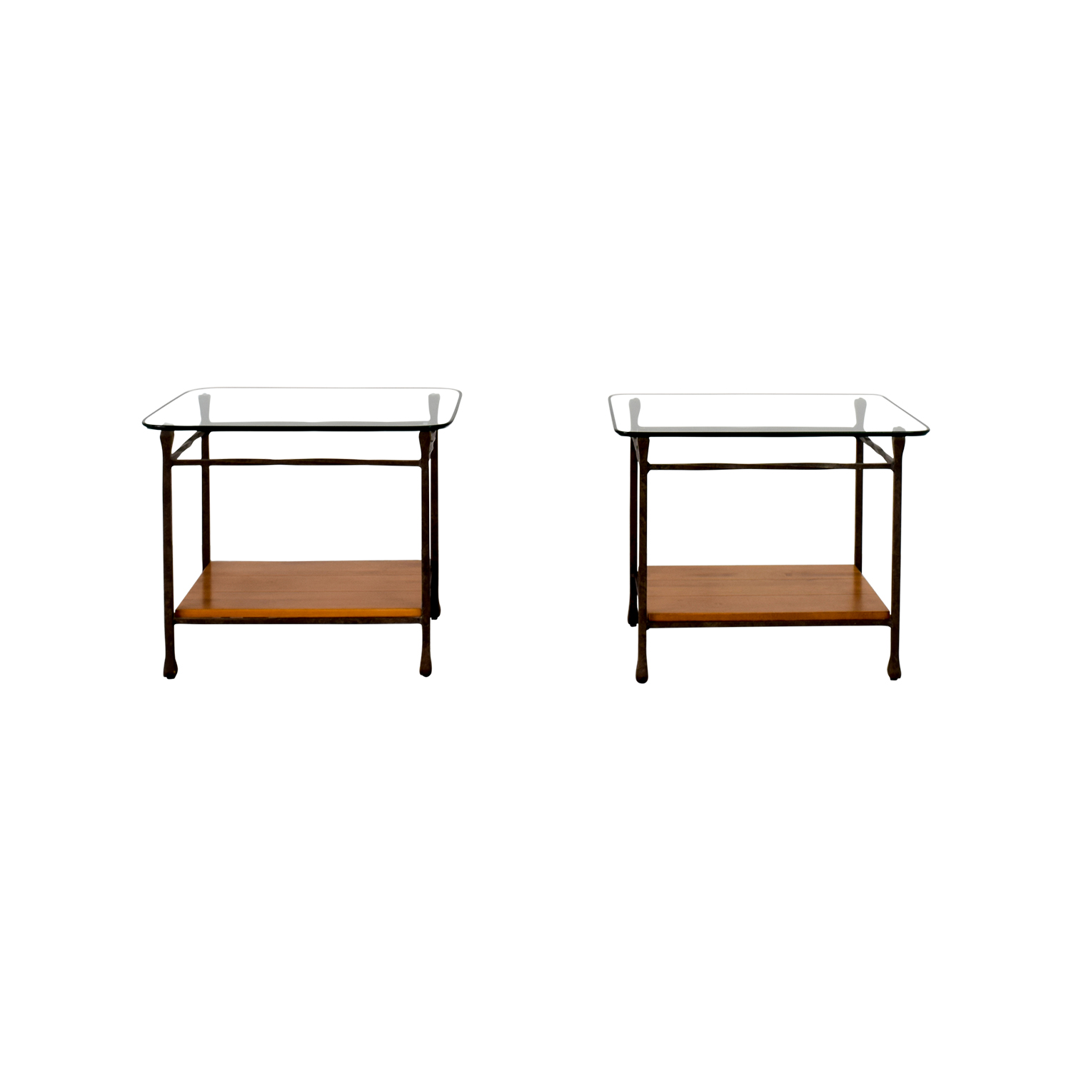 Ethan Allen Wrought Iron End Tables / End Tables