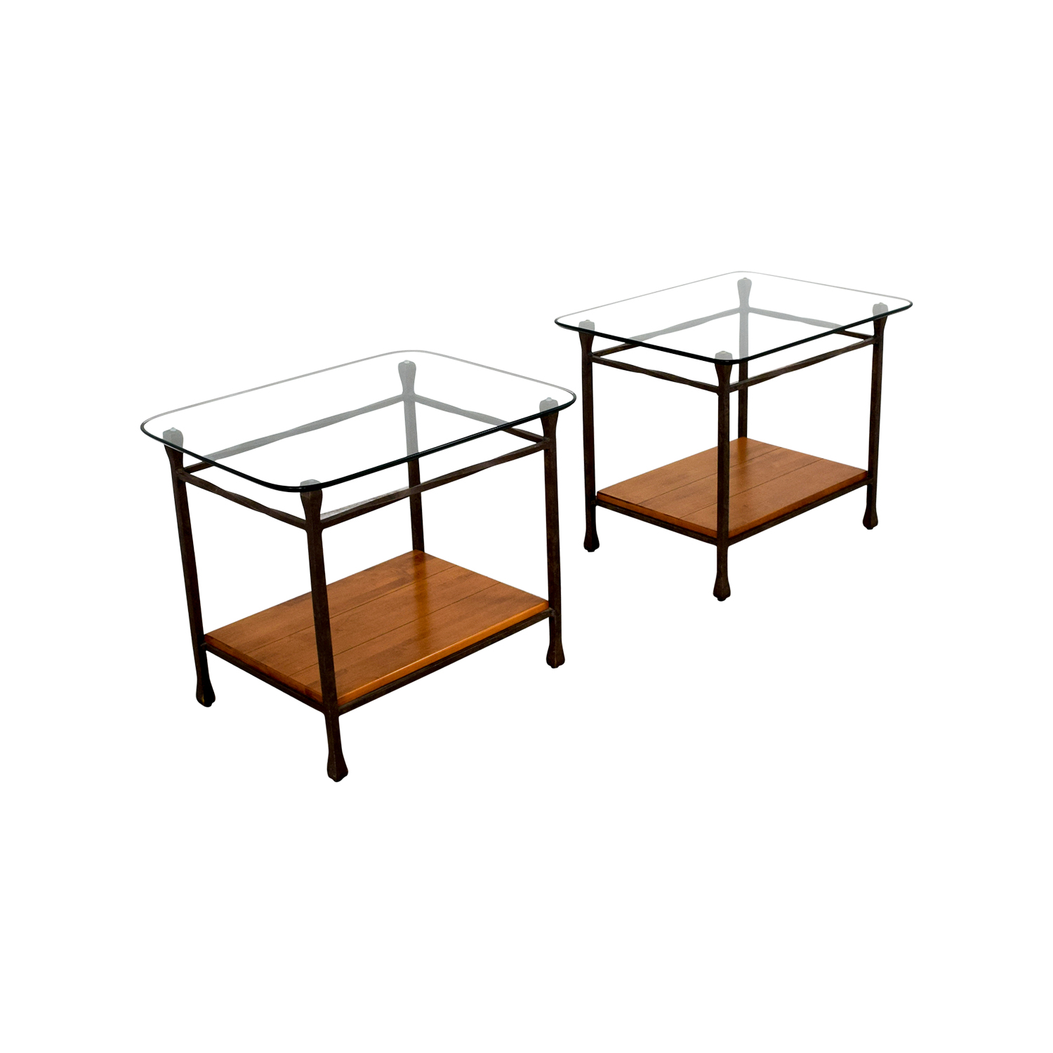 61% OFF Ethan Allen Ethan Allen Wrought Iron End Tables Tables