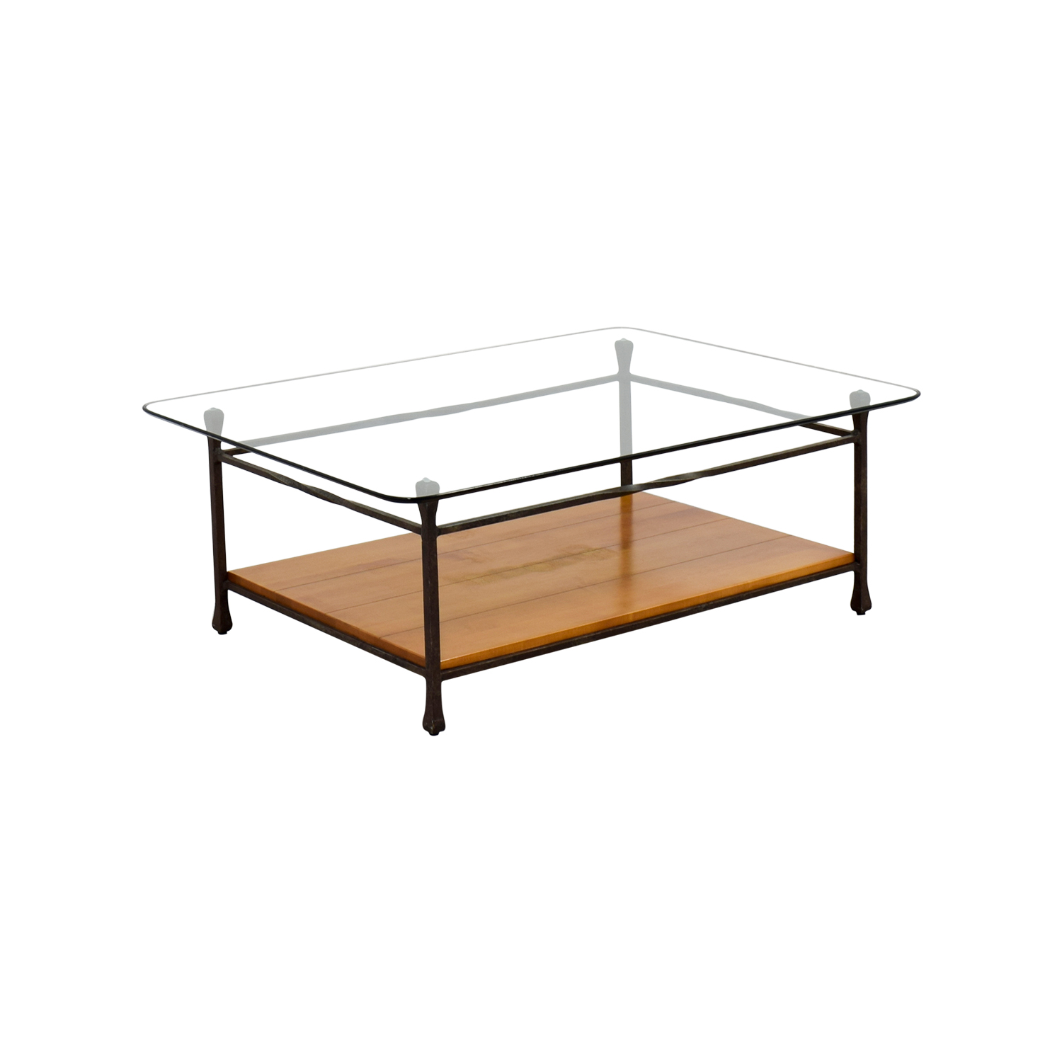 Used Ethan Allen Coffee Tables: Ethan Allen Ethan Allen Glass & Wood Coffee