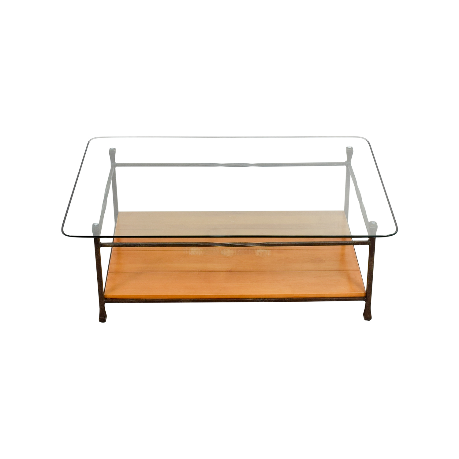 Ethan allen discount coupon Used glass coffee table