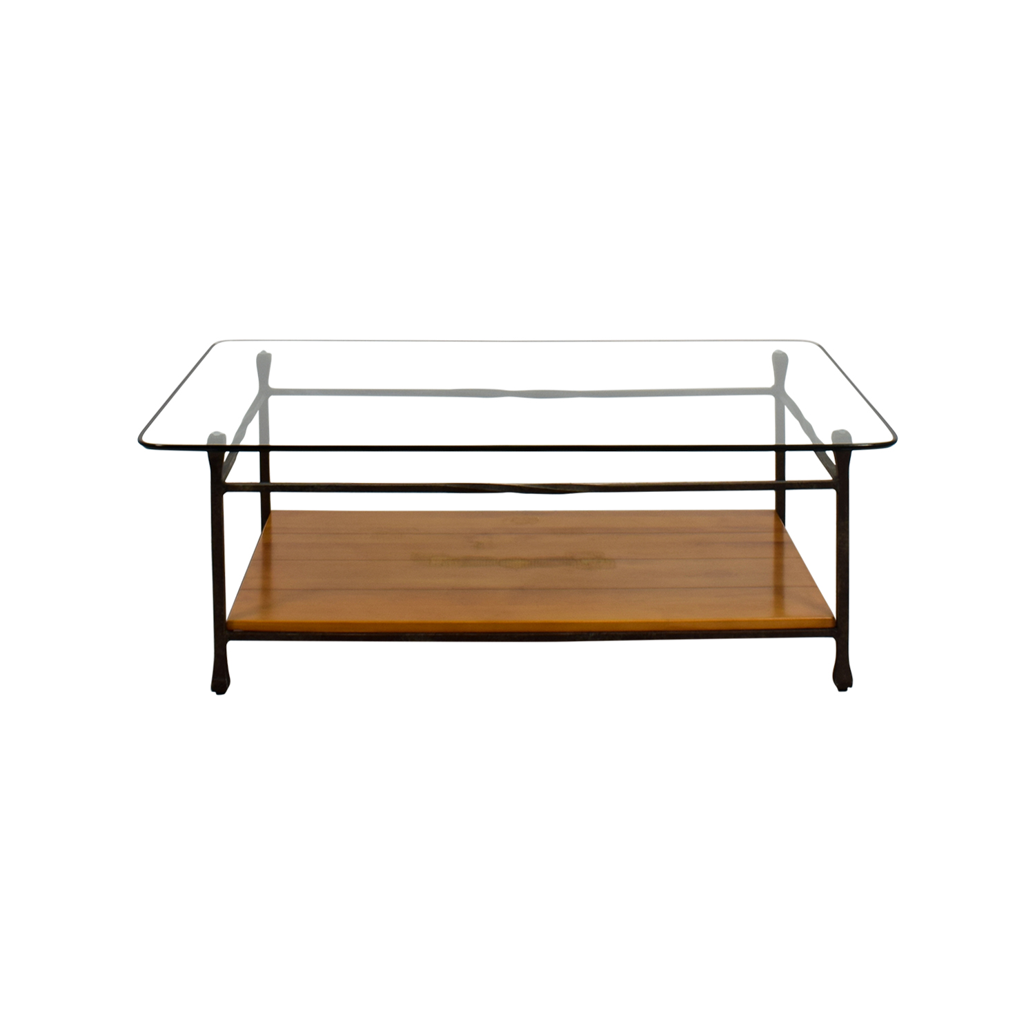 51% OFF CB2 CB2 Mill Industrial Iron Coffee Table Tables