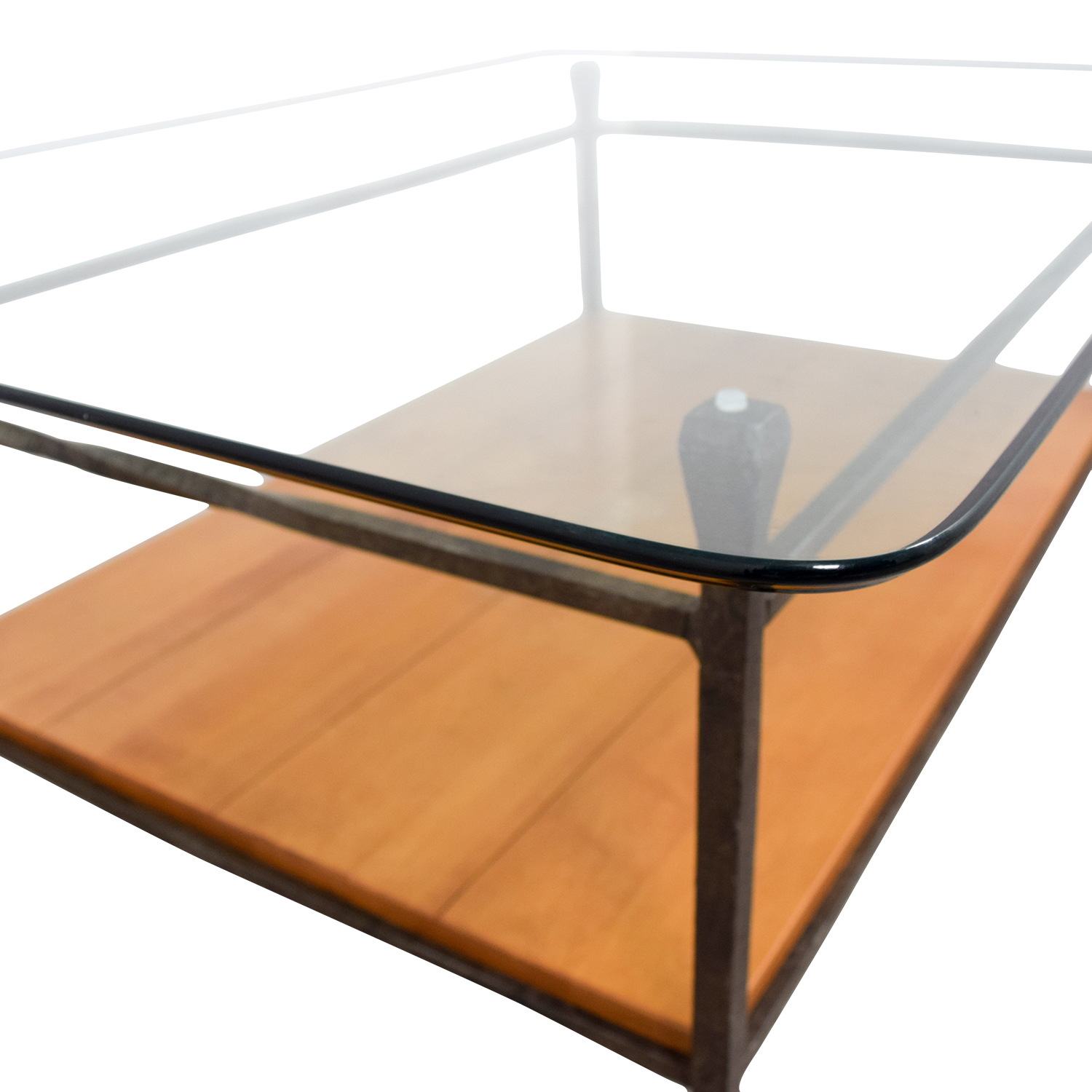 57 off ethan allen ethan allen glass wood coffee table tables