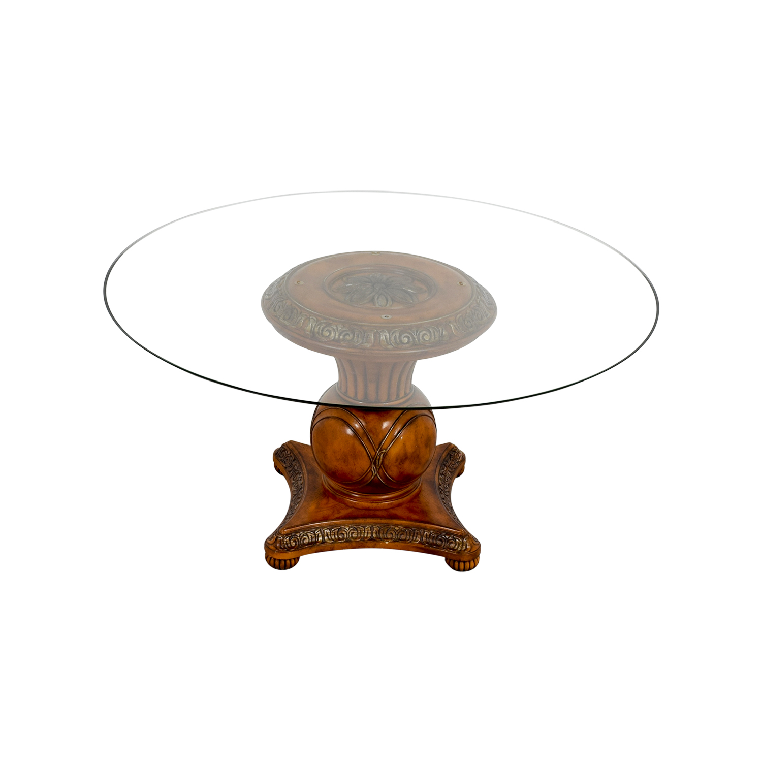 Ornate Round Glass Table Dinner Tables