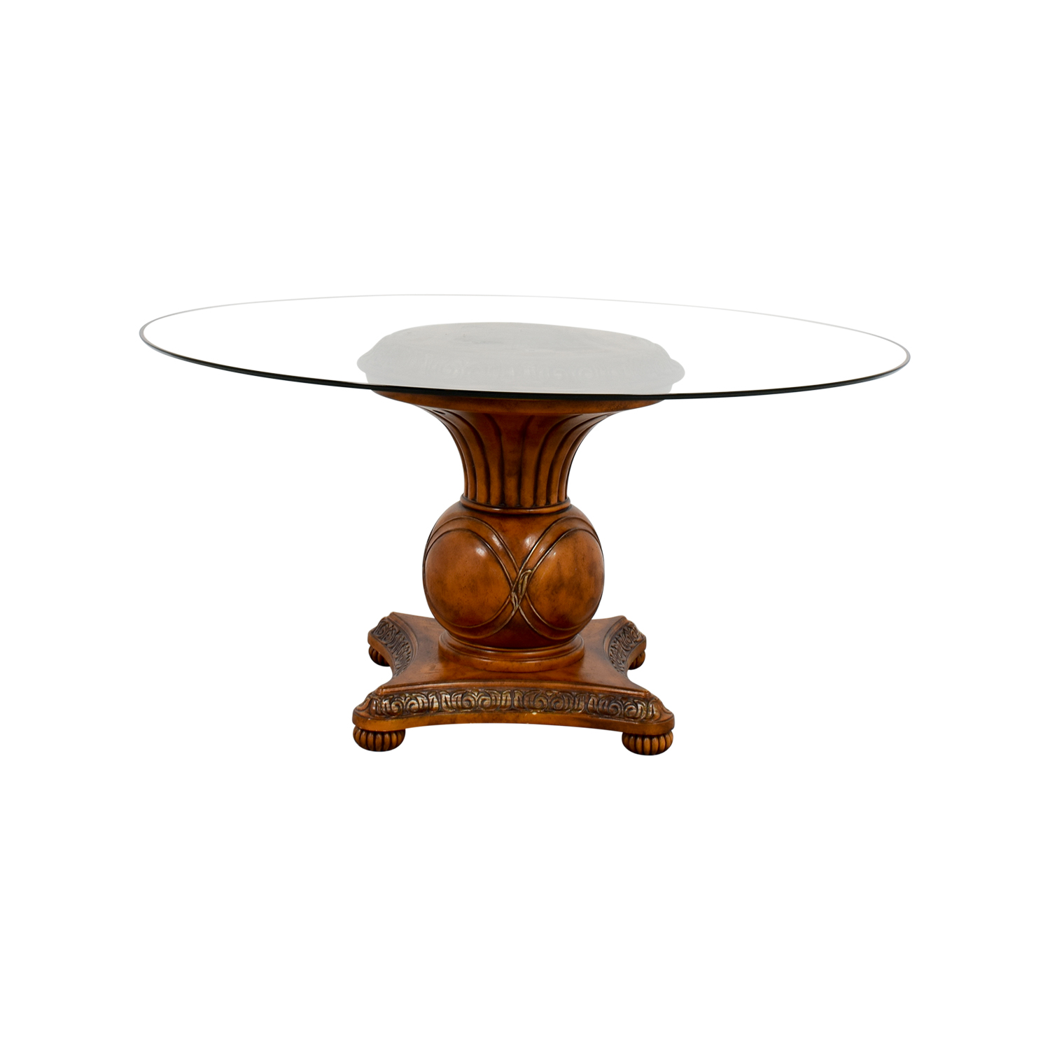 Ornate Round Glass Table coupon