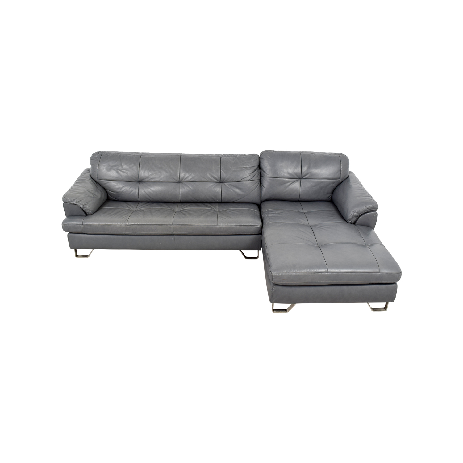 buy Ashley Furniture Gray Tufted Sectional Sofa Ashley Furniture Sofas