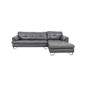 Shop ashley furniture gray tufted sectional sofa: Second ...