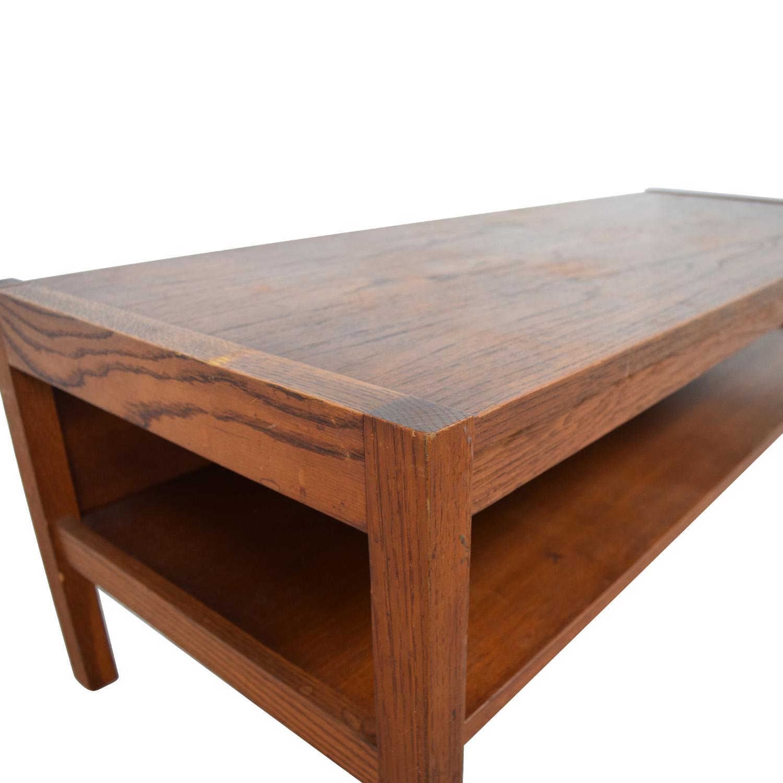 61% OFF Workbench Workbench Mid Century Wood Coffee Table w