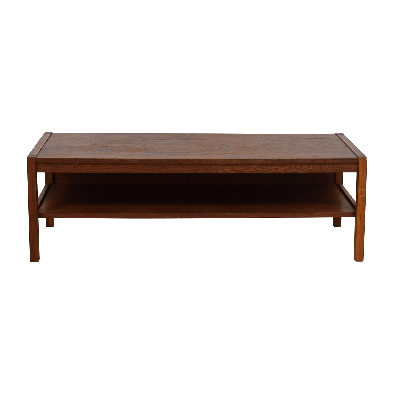 44% OFF Marble Top Coffee Table with Burgundy Carved Wood Tables