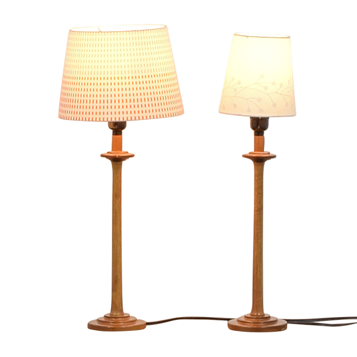 shop Wood Table Lamps with Mismatched Shades