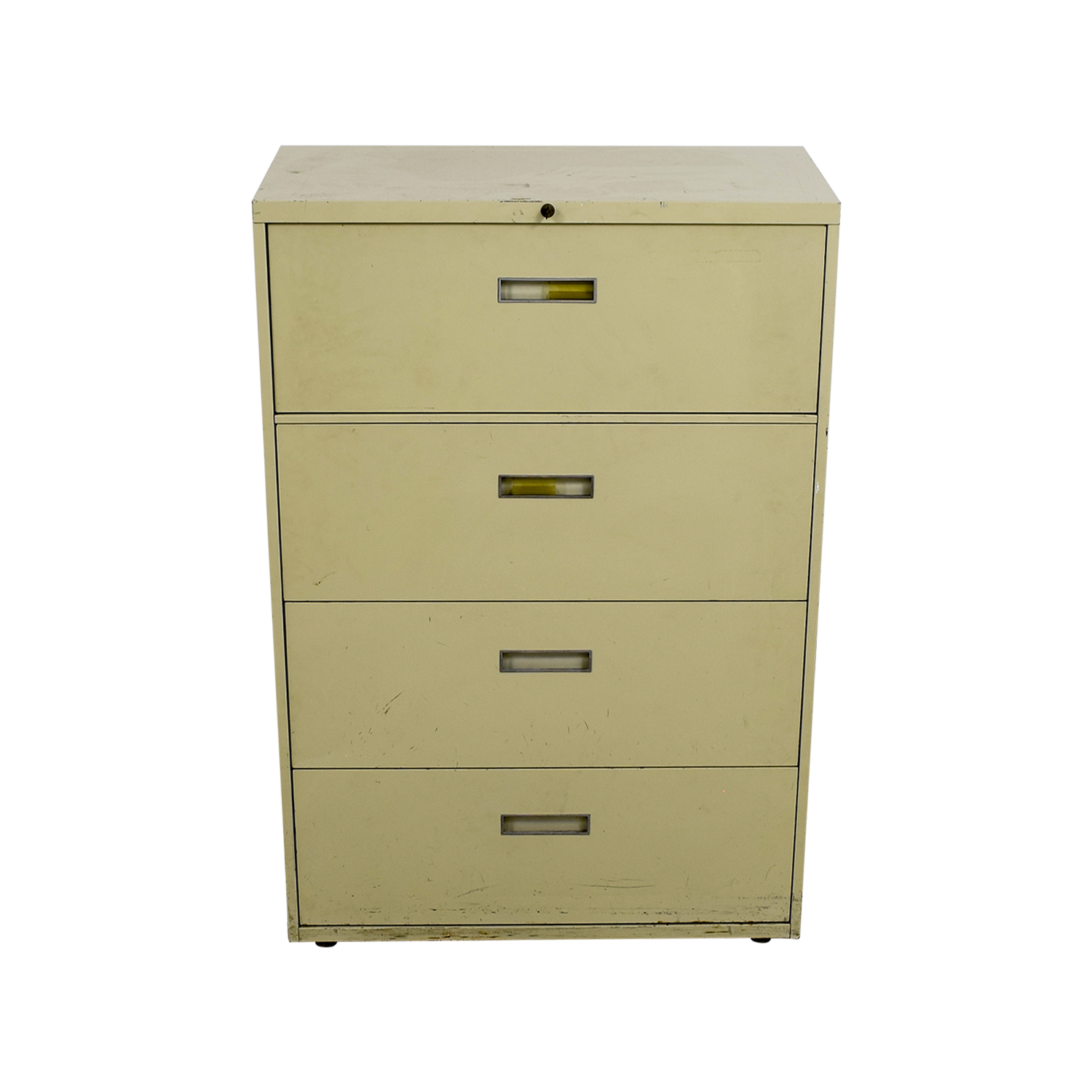 Four Drawer Tan Lateral File Cabinet Storage