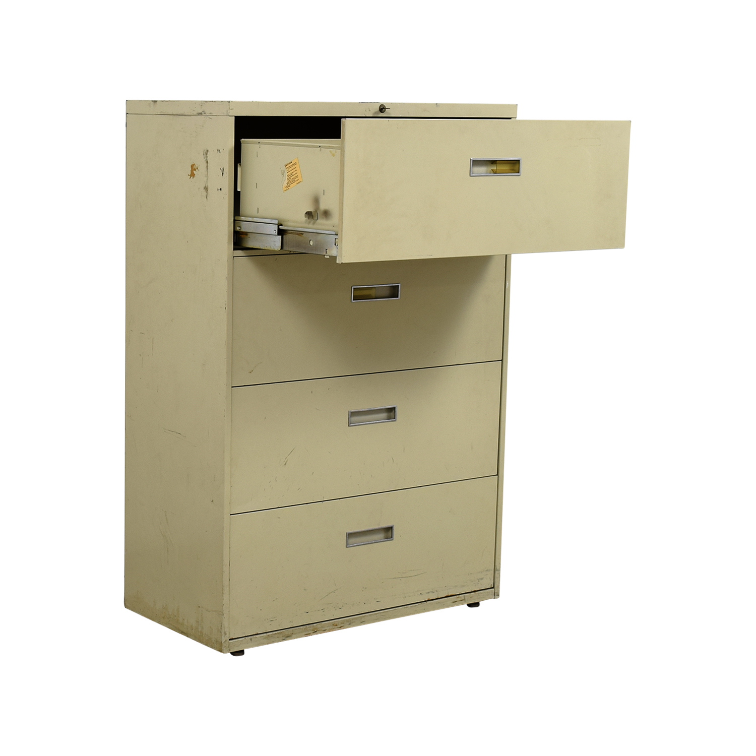 82 Off Four Drawer Tan Lateral File Cabinet Storage
