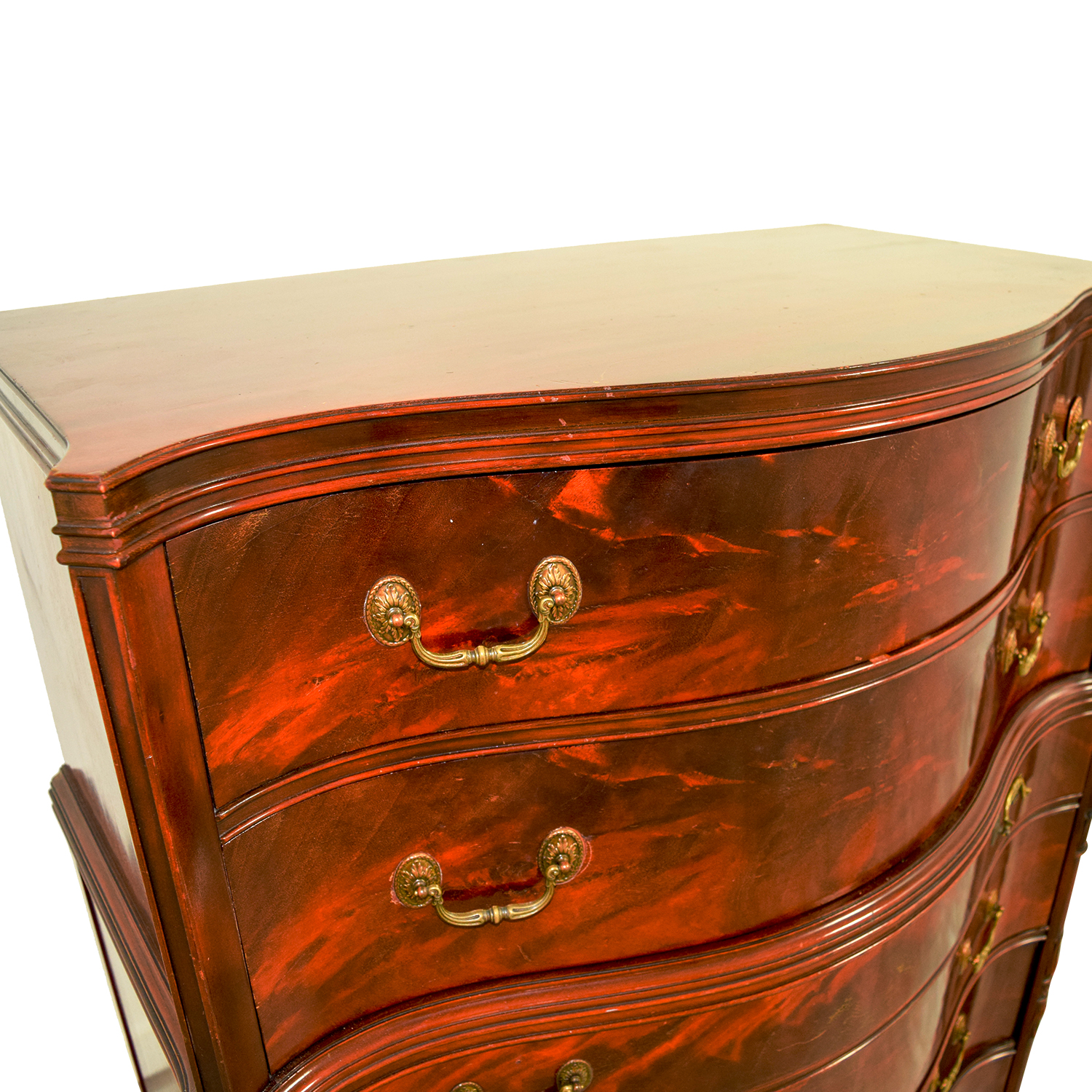 86 Off Antique 1940 S Flame Mahogany Six Drawer Chest