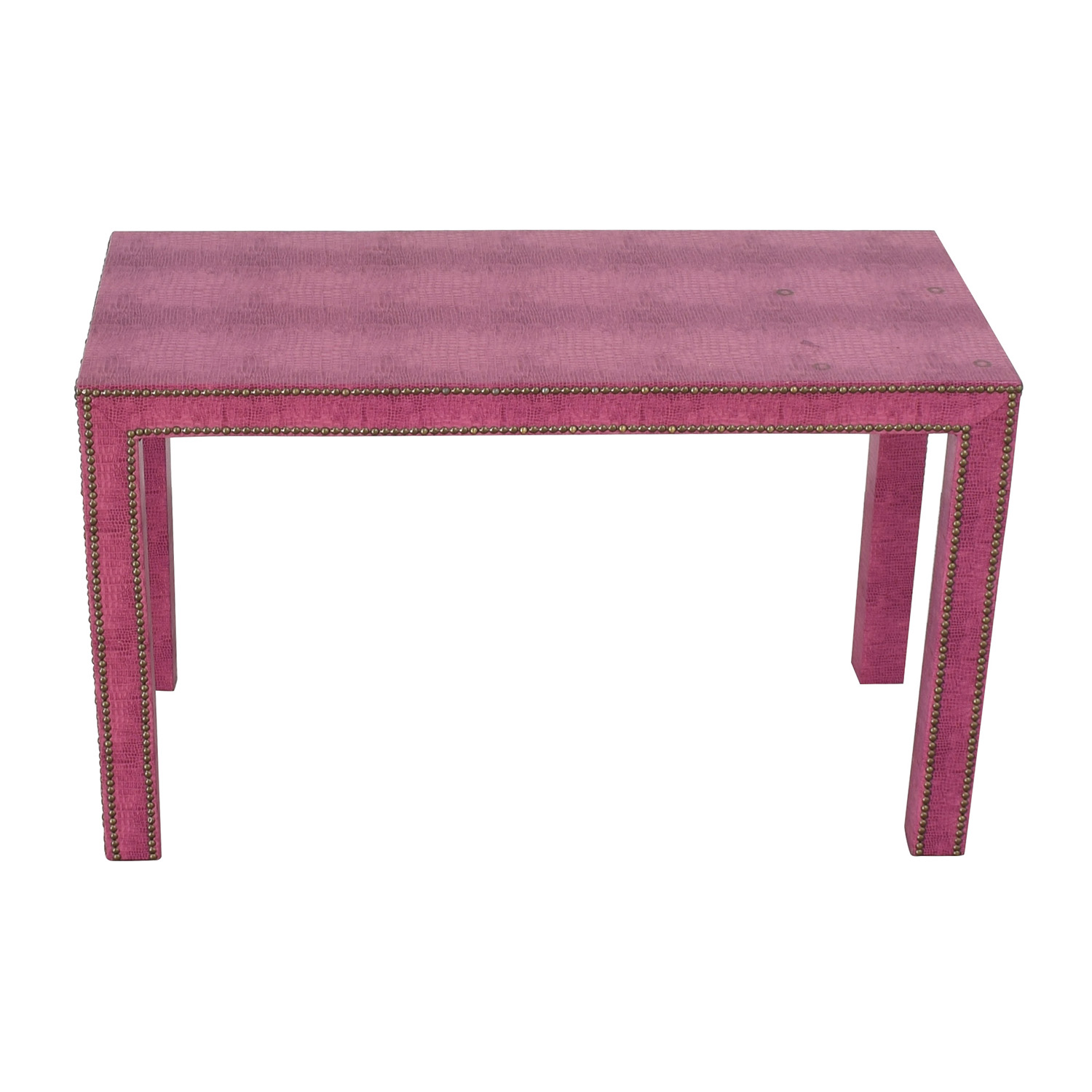 Society Social Society Social Chrystie Pink Nailhead Street Desk for sale