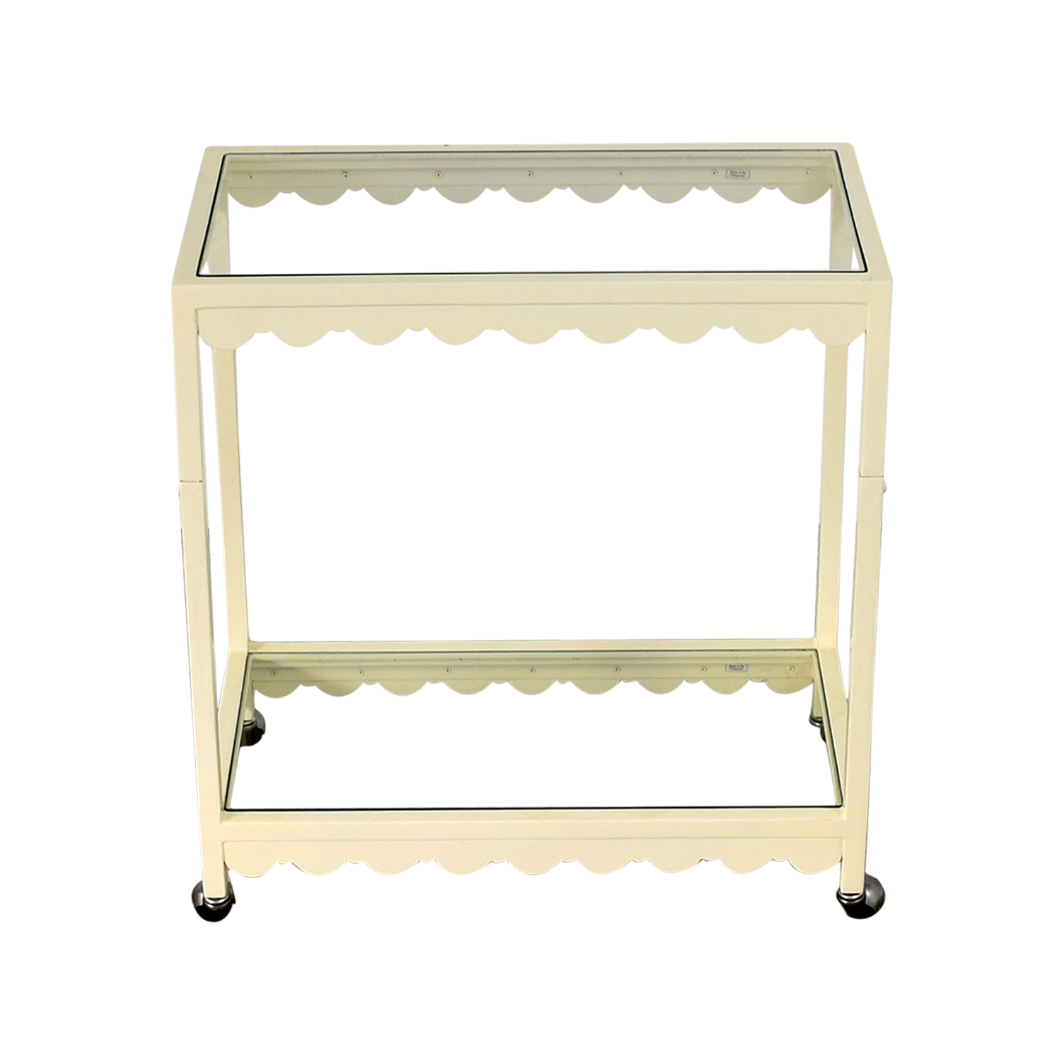 shop Society Social Cream Scallop Bar Cart Society Social Sofas