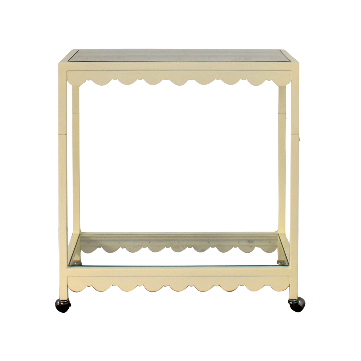 buy Society Social Cream Scallop Bar Cart Society Social Sofas