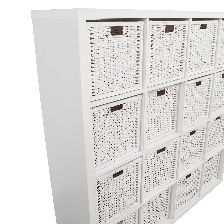 59 Off Ikea Ikea Shelving Unit With Baskets Storage