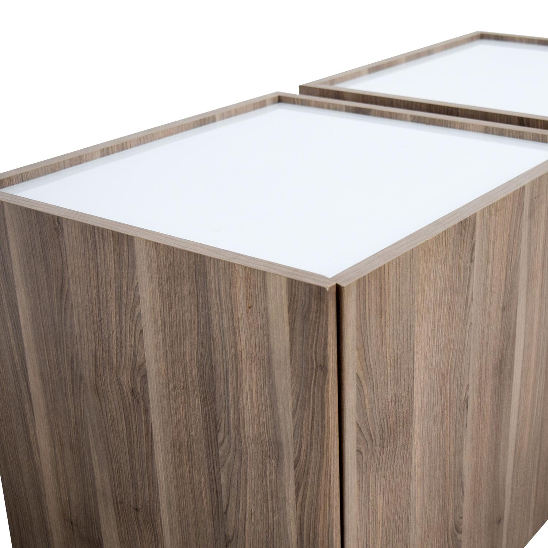IKEA IKEA Beech Wood Night Stands With Hidden