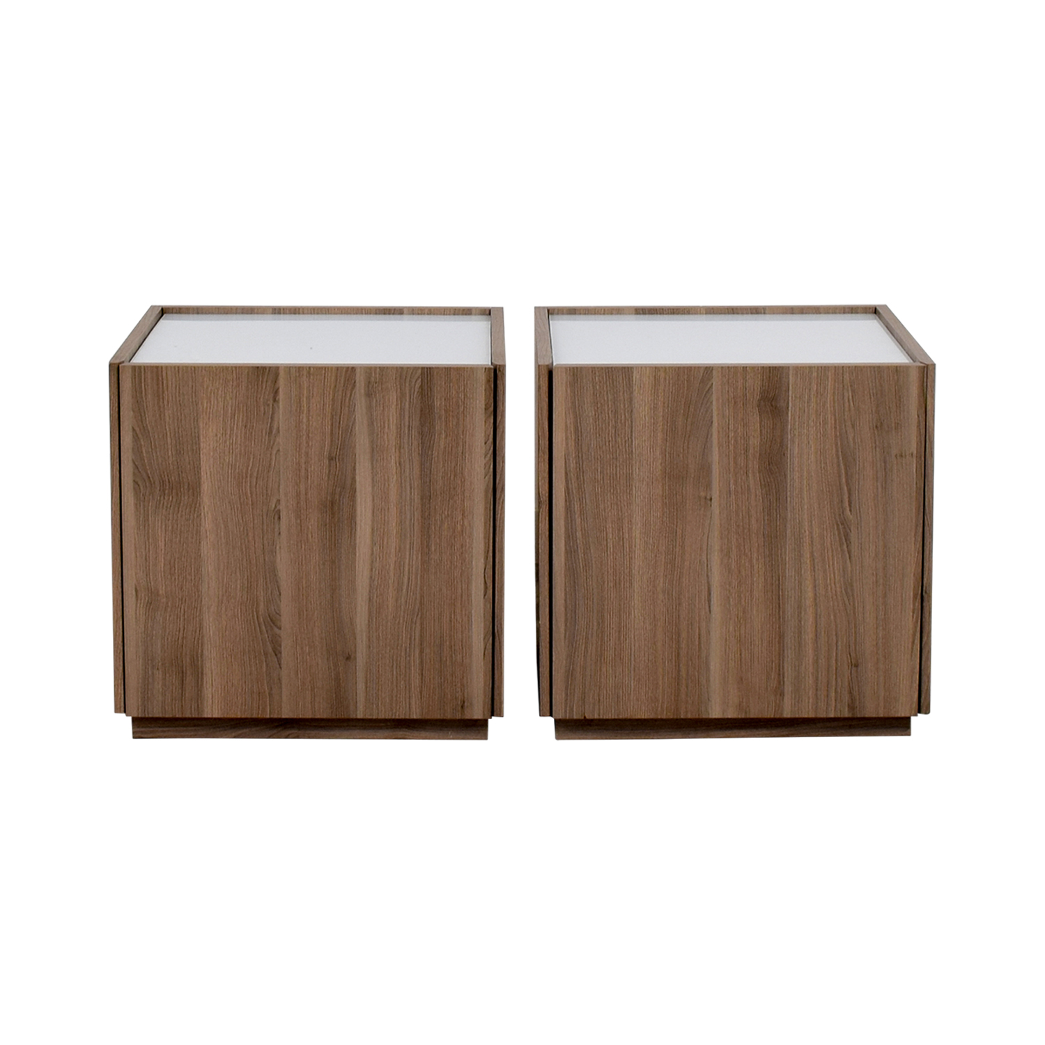 IKEA IKEA Beech Wood Night Stands With Hidden Drawers Dimensions ...