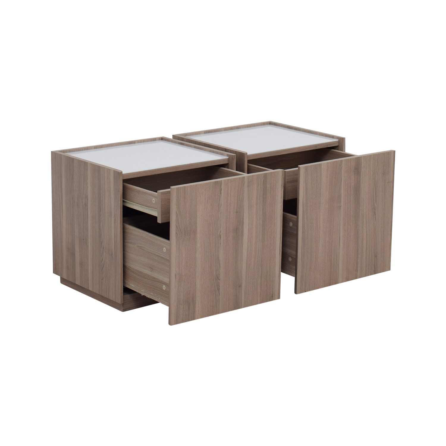40% OFF IKEA IKEA Beech Wood Night Stands with Hidden Drawers