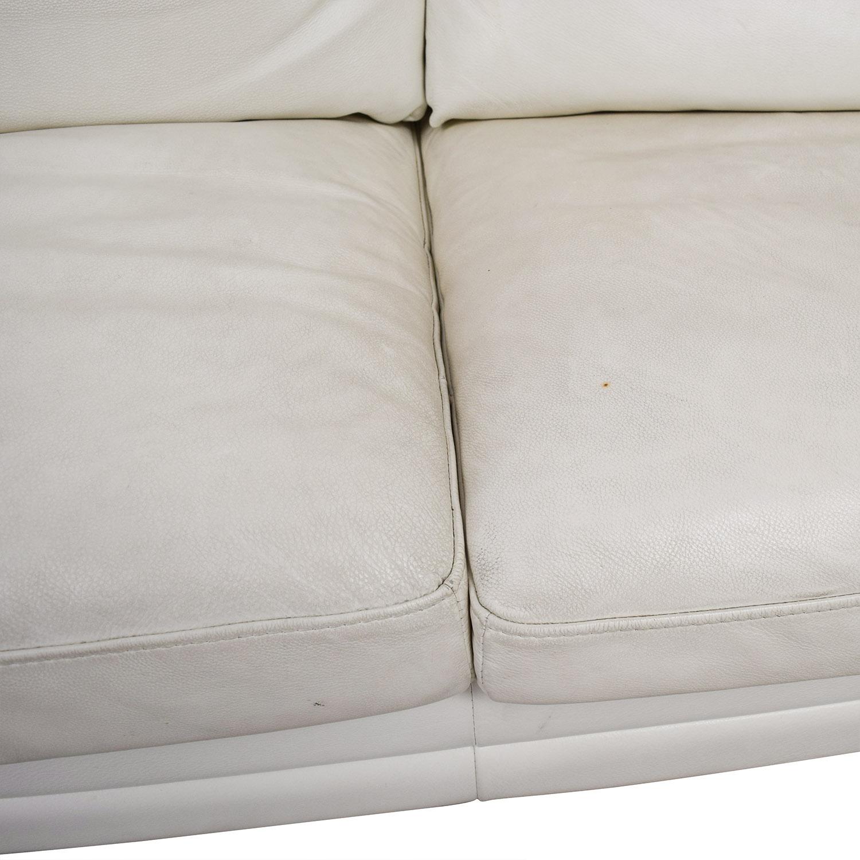 50 Off Z Gallerie Z Gallerie White Leather Three Cushion Sofa Sofas