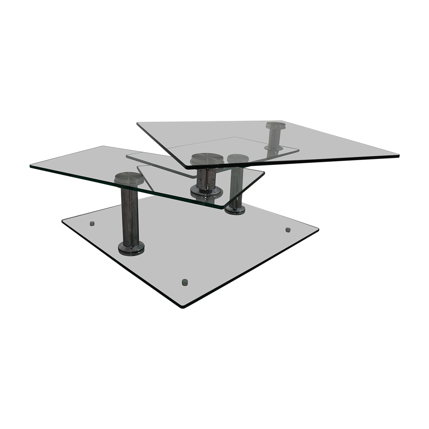 47% OFF Z Gallerie Z Gallerie Movable Glass Coffee Table Tables