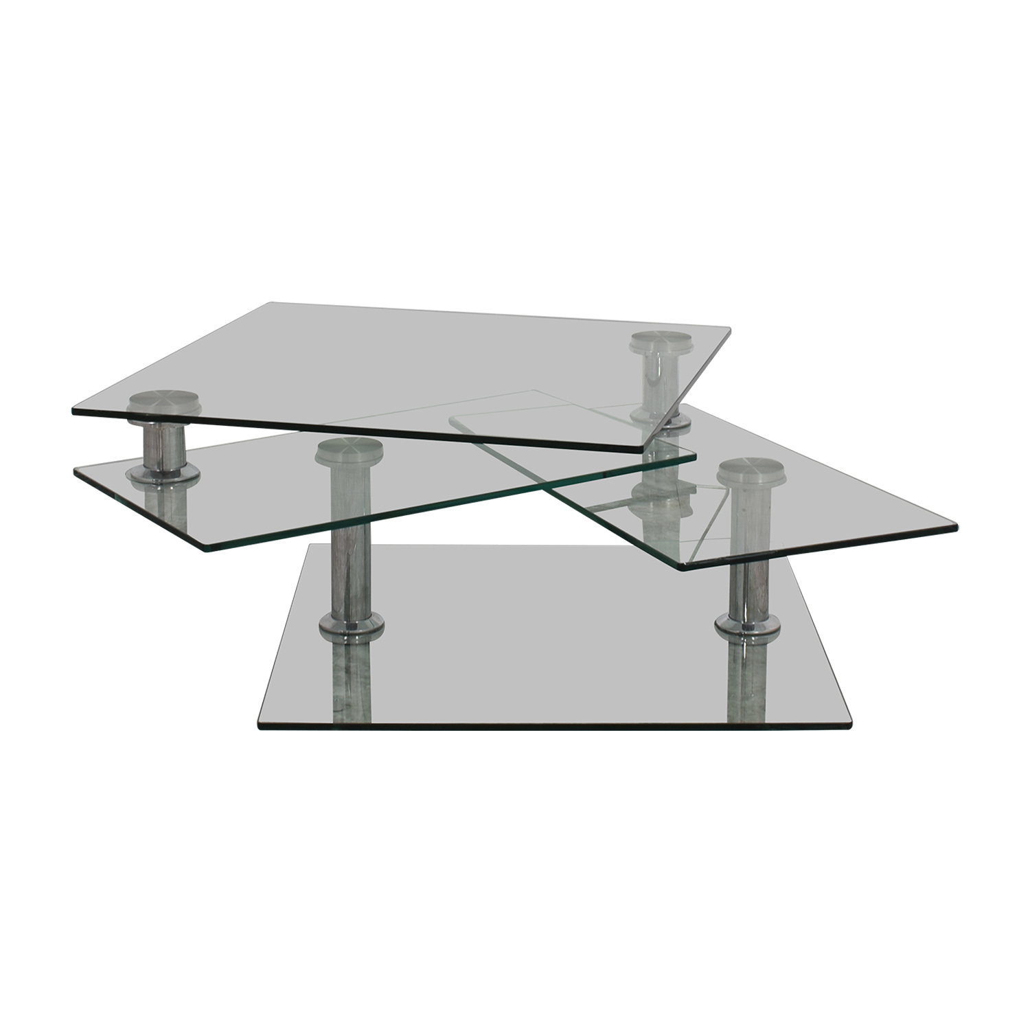 OFF Z Gallerie Z Gallerie Movable Glass Coffee Table Tables
