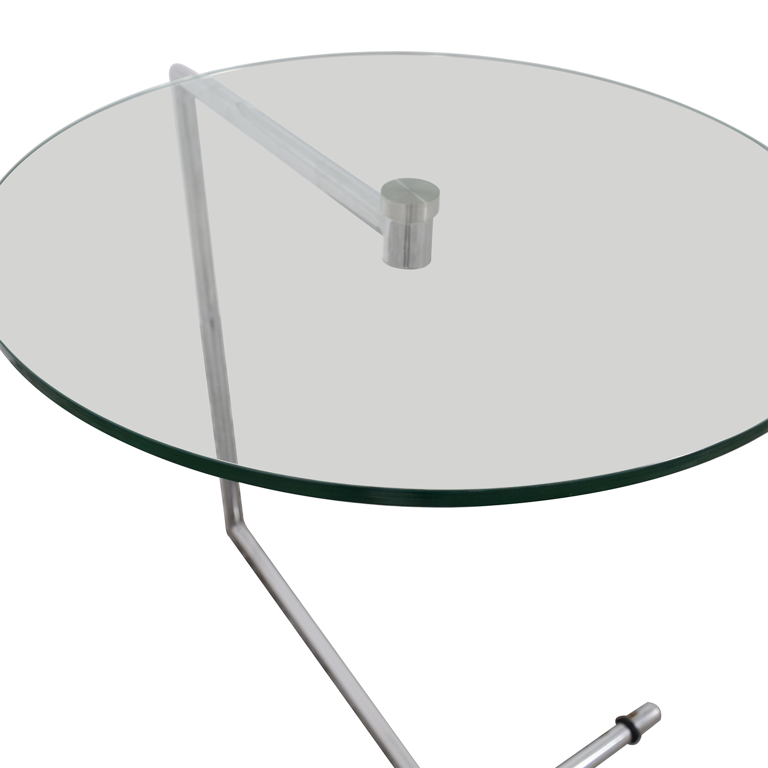 OFF Z Gallerie Z Gallerie Glass and Metal Side Table Tables