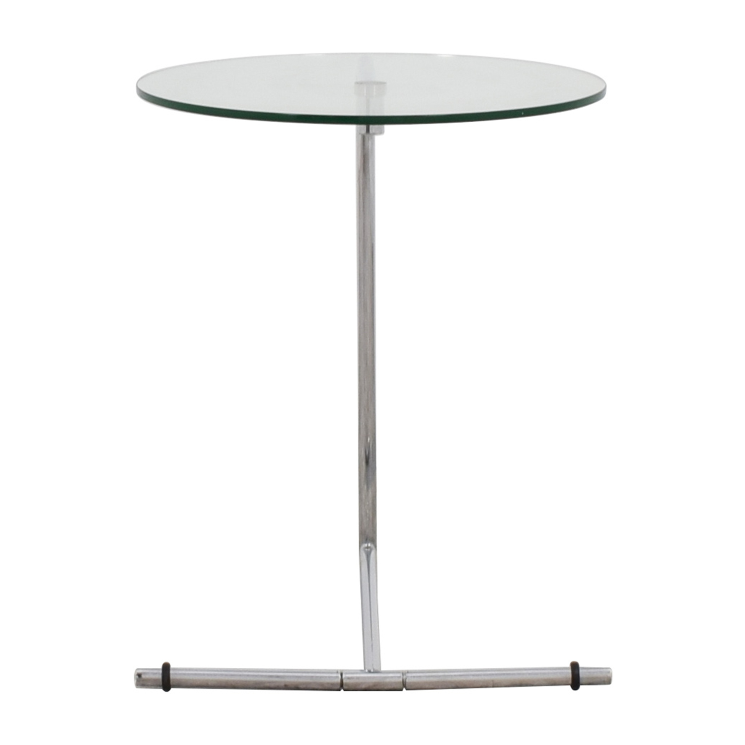 Z Gallerie Glass and Metal Side Table / End Tables