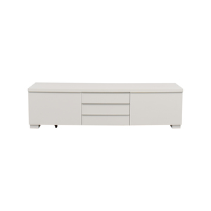 shop IKEA White TV Stand With Five-Drawers IKEA