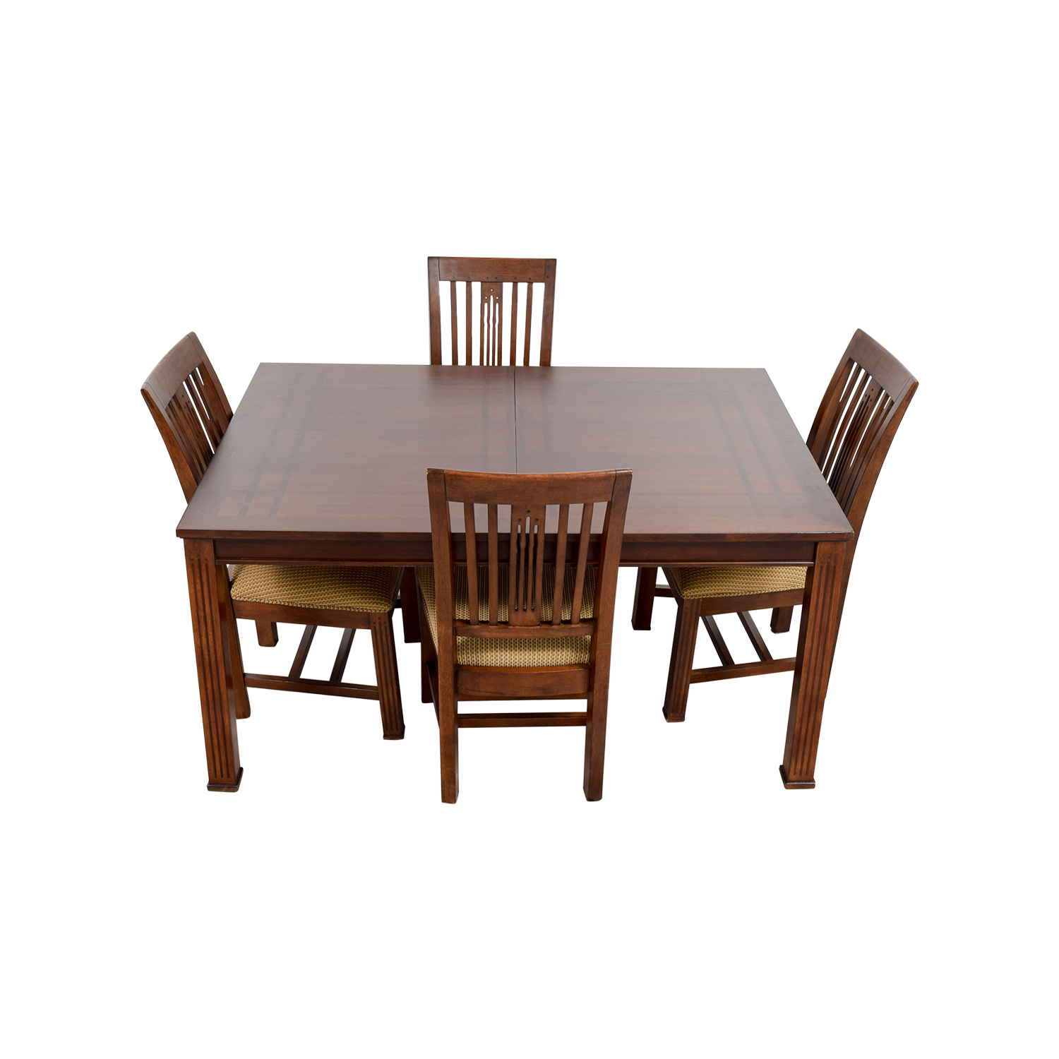 48% OFF Beech Wood and White Dining Set Tables