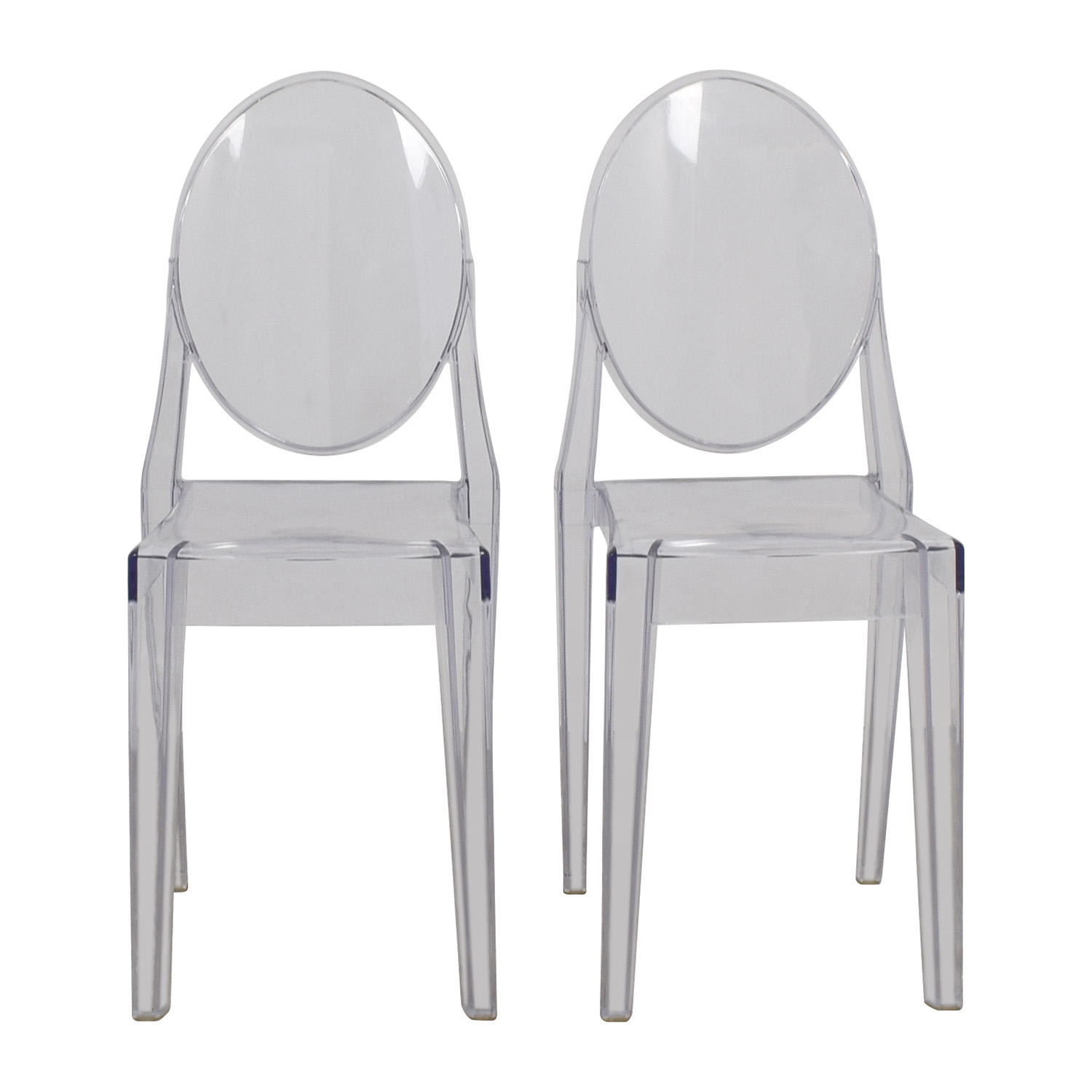 Flash Furniture Flash Furniture Ghost Side Chairs Accent Chairs ...