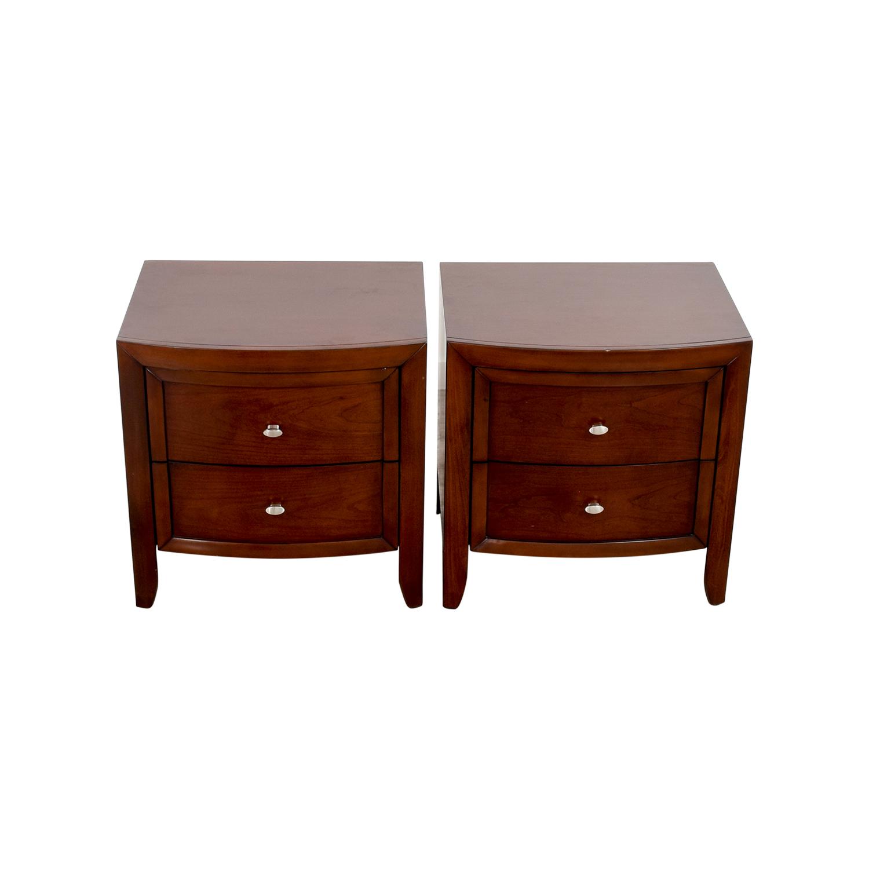Macys Macys Yardley Two-Drawer Nightstand End Tables