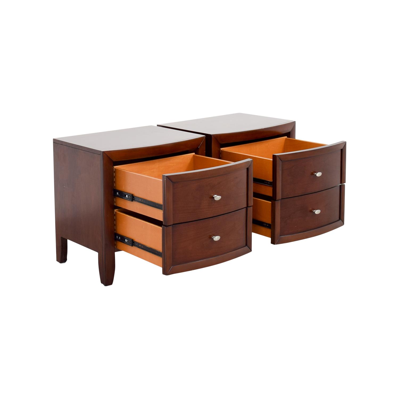 shop Macys Yardley Two-Drawer Nightstand Macys Tables