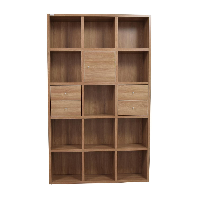 buy Hansaem Natural Wood Bookshelf Hansaem Bookcases & Shelving