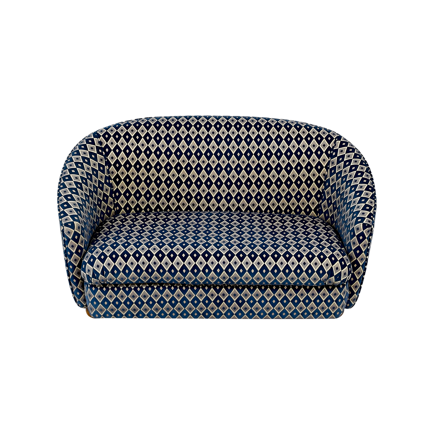 French Heritage French Heritage Blue and Grey Harlequin Loveseat on sale
