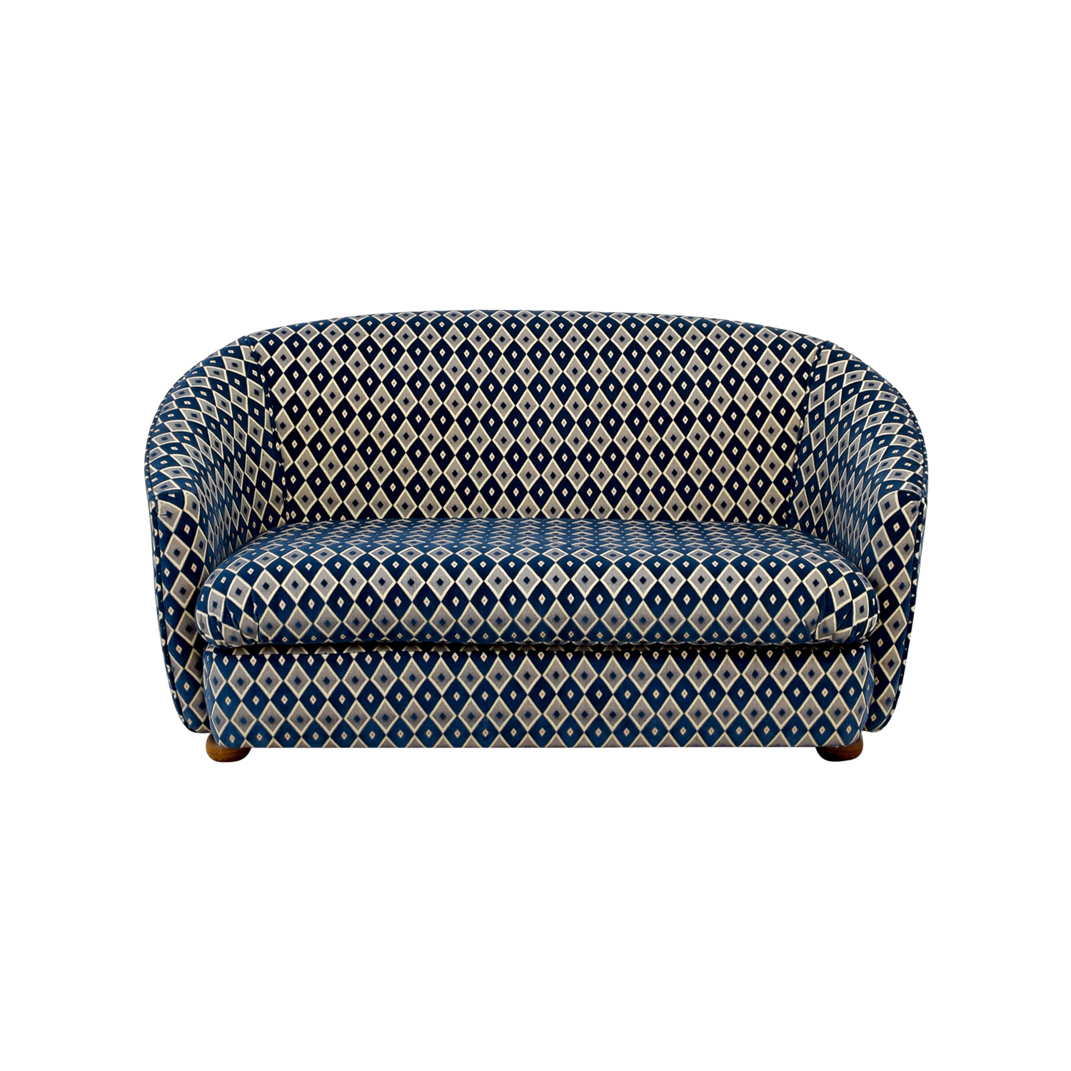 French Heritage French Heritage Blue and Grey Harlequin Loveseat nyc
