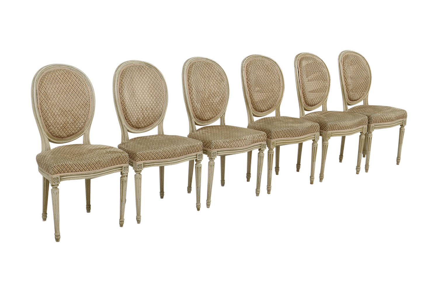 antique tan french chairs
