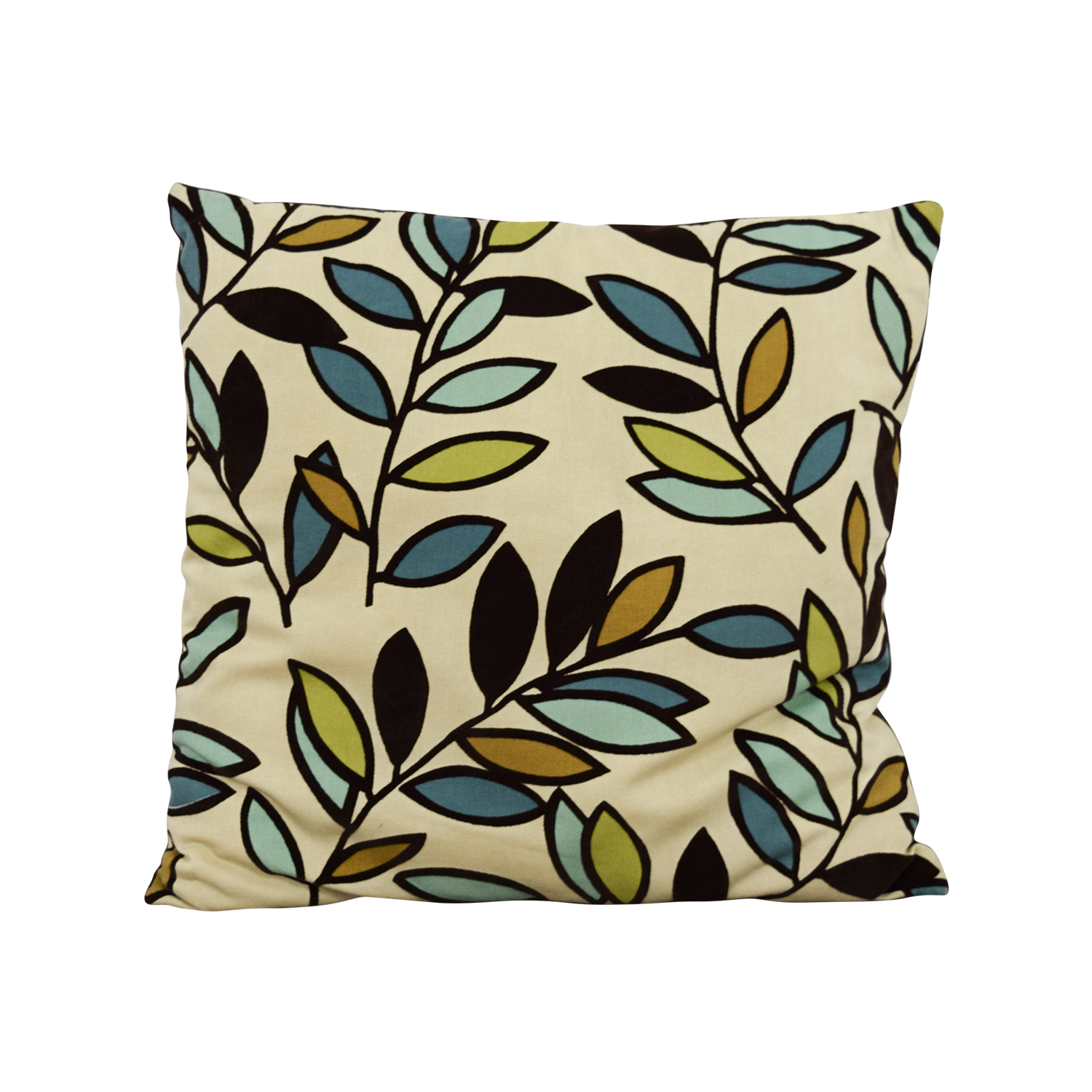 Therapy Therapy Leaves Throw Pillow dimensions